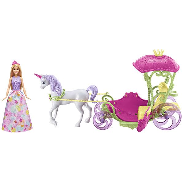Mattel Barbie DYX31 Барби Конфетная карета и кукла кукла barbie mattel barbie радужная принцесса с волшебными волосами в ассортименте dpp90
