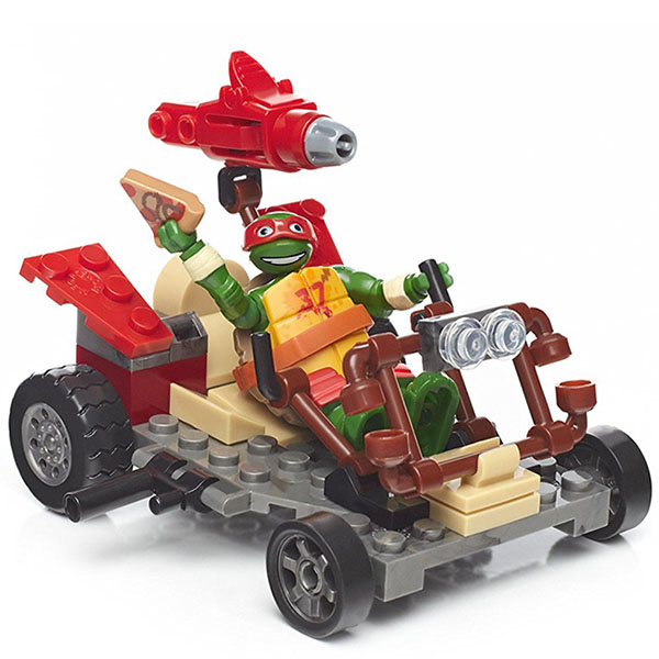 Mattel Mega Bloks DPF60 Мега Блокс Черепашки Ниндзя: лихие гонщики конструктор mega bloks черепашки ниндзя схватка со злодеям 114 элементов dmw29