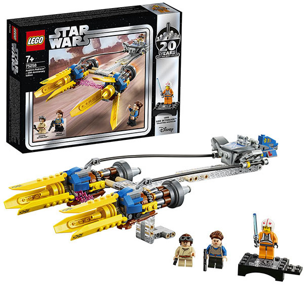 LEGO Star Wars 75258 Конструктор ЛЕГО Звездные Войны Гоночная капсула Энакина выпуск к 20-му юбилею lego star wars 75193 конструктор лего звездные войны микрофайтер сокол тысячелетия