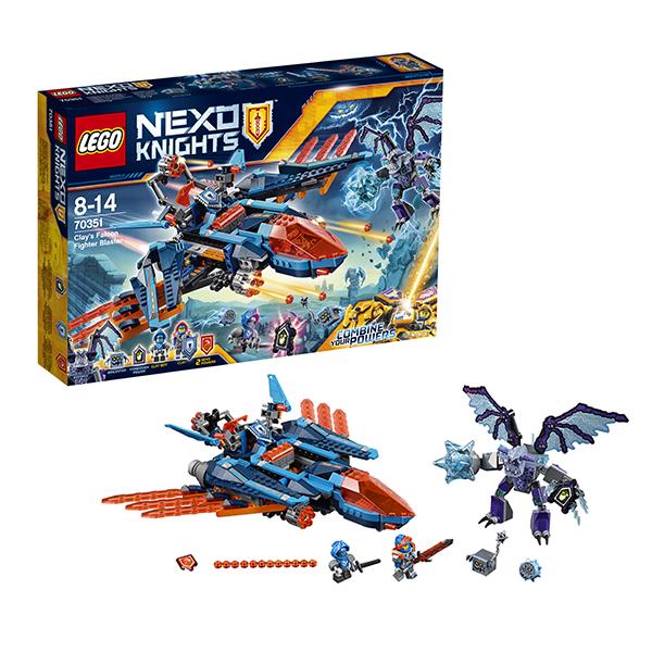 все цены на  Lego Nexo Knights 70351 Лего Нексо Самолёт-истребитель Сокол Клэя  онлайн
