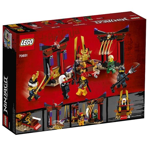 Lego Ninjago 70651 Конструктор Лего Ниндзяго Решающий Бой в Тронном Зале