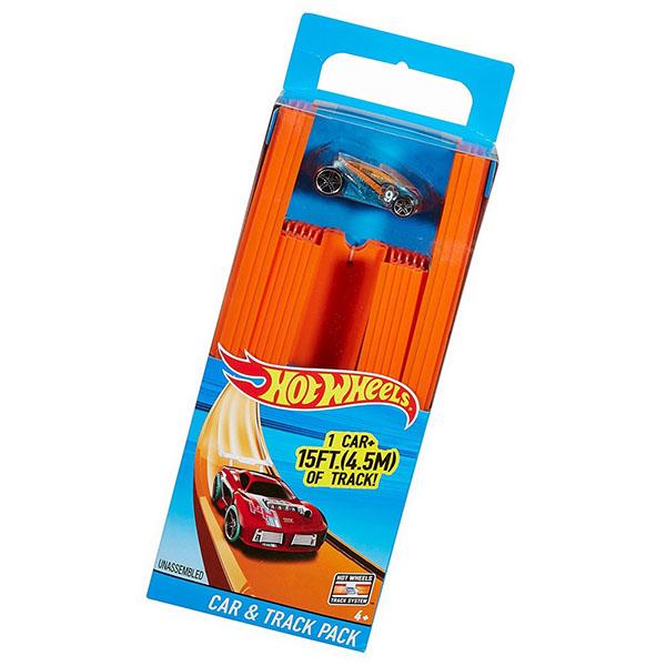 Mattel Hot Wheels BHT77 Хот Вилс 4-х метровая трасса с 1 базовой машинкой в наборе