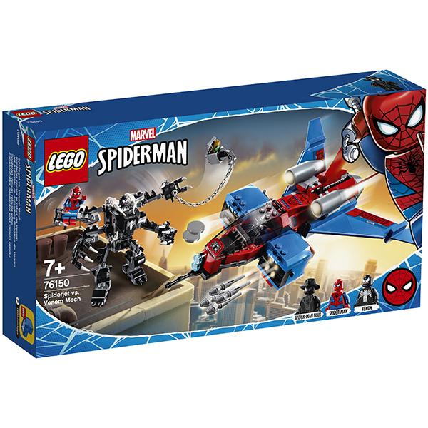 LEGO Super Heroes 76150 Конструктор ЛЕГО Реактивный самолёт Человека-Паука против Робота Венома