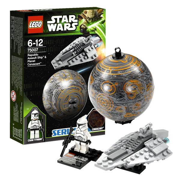 Lego Star Wars 75007 Конструктор Лего Звездные Войны Республиканский корабль и планета Корусант
