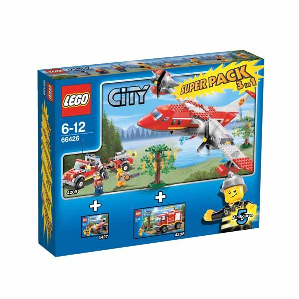 Lego SuperPack 66426 Конструктор Лего Суперпэк Город Пожарные Подарочный