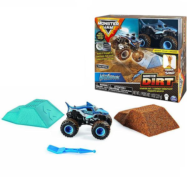 цена на Monster Jam 6045198-MEG Монстр Джем Megladon игровой набор с машинкой и кинетическим песком