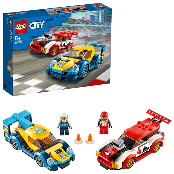 LEGO City 60256 Конструктор ЛЕГО Город Turbo Wheels Гоночные автомобили lego city конструктор внедорожник каскадера 60146