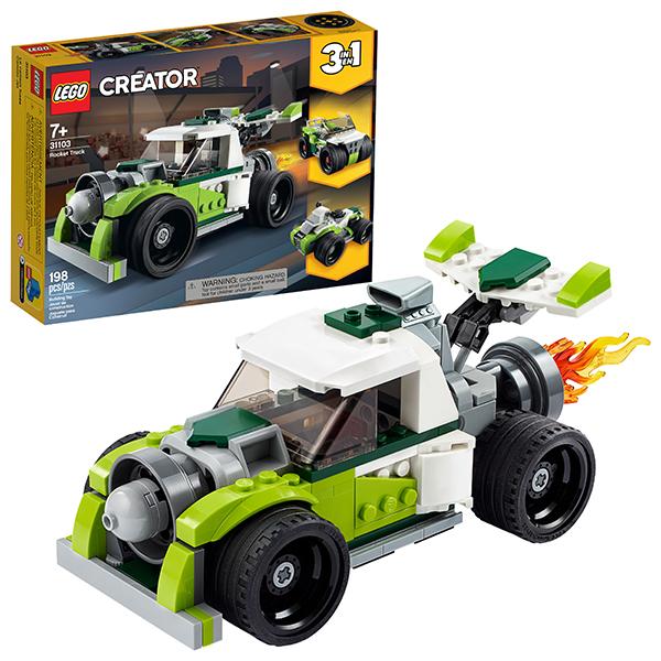 LEGO Creator 31103 Конструктор ЛЕГО Криэйтор Грузовик-ракета детское лего sluban airbus lego b0366