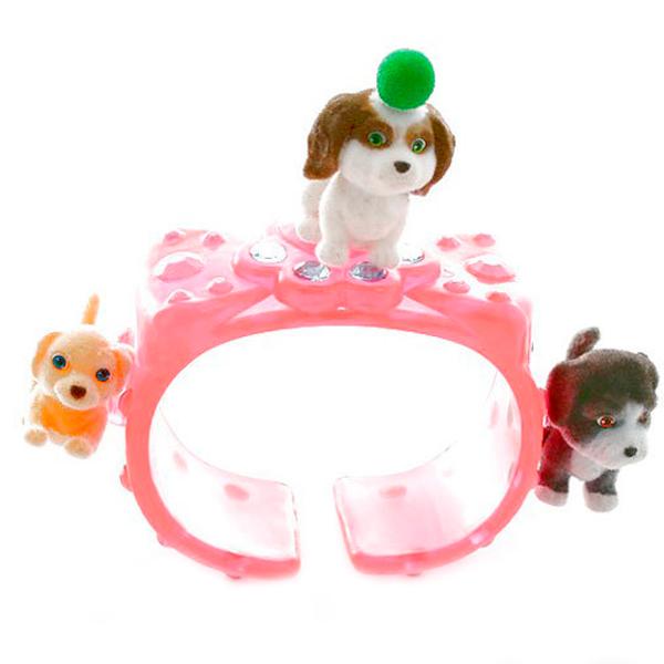 Puppy In My Pocket 48120-B Щенок в моем кармане Браслет с щенками (в ассортименте) игрушка puppy in my pocket брелок сумочка фиолетовая с 5ю флок щенками