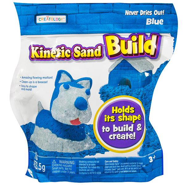Kinetic sand 71428 Кинетический песок Build - набор из 2 цветов (в ассортименте) wg супер кинетический песок цветной 0 5 кг в ведерке красный