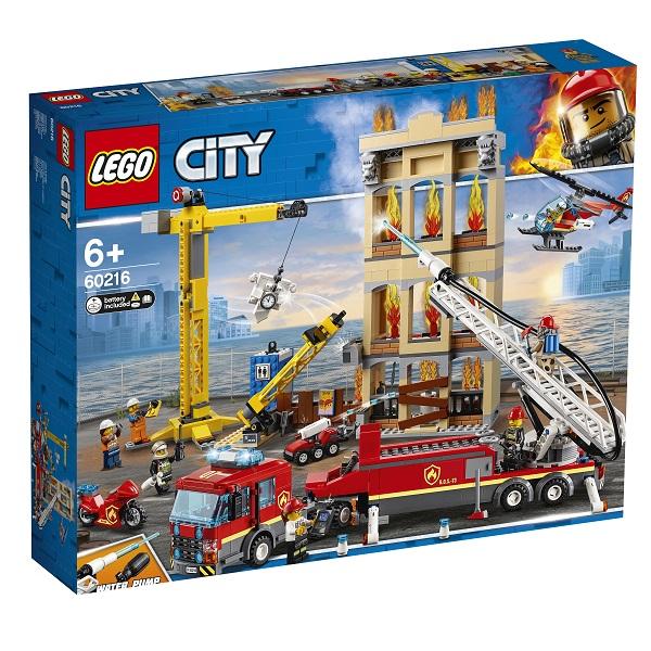 LEGO City 60216 Конструктор ЛЕГО Город Пожарные: Центральная пожарная станция