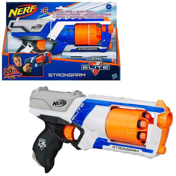 Hasbro Nerf 36033 Нерф Бластер Элит Стронгарм (в ассортименте) игрушечное оружие nerf hasbro бластер элит разрушитель