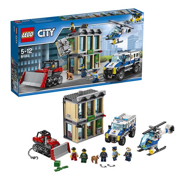 Lego City 60140 Конструктор Лего Город Ограбление на бульдозере lego city 60110 лего город пожарная часть
