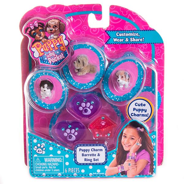 Puppy In My Pocket 48120-R Щенок в моем кармане Набор украшений с щенками (в ассортименте)