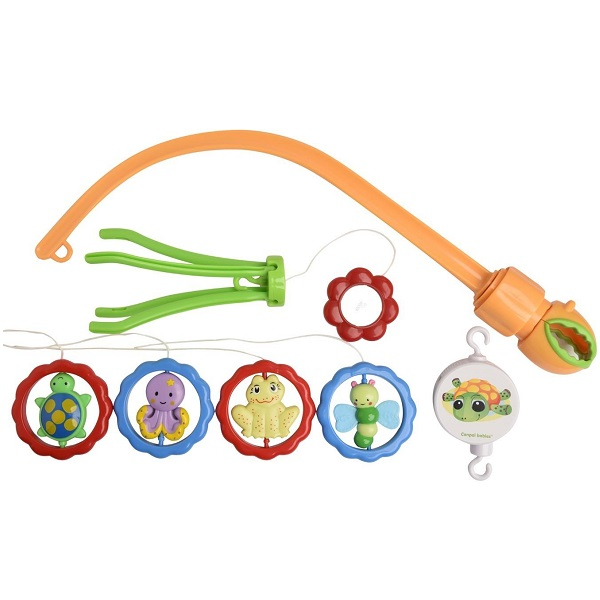 Canpol babies 250930003 Карусель музыкальная пластиковая - животные с зеркалами, 0+