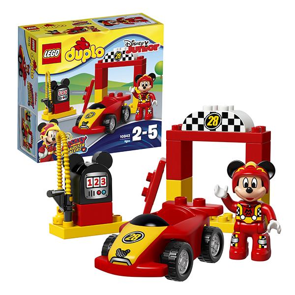 Lego Duplo 10843 Конструктор Лего Дупло Гоночная машина Микки lori магниты из гипса клуб микки мауса lori