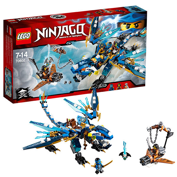 Lego Ninjago 70602 Лего Ниндзяго Дракон Джея конструктор lego ninjago дракон джея 350 элементов 70602