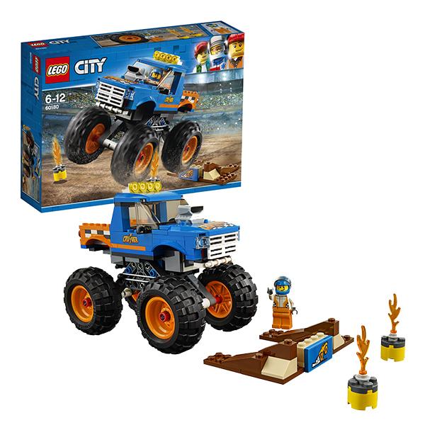 Lego City 60180 Конструктор Лего Город Монстр-трак конструкторы lego lego игрушка город набор для начинающих остров тюрьма модель 60127 city
