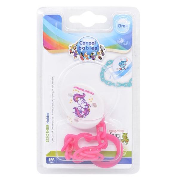 Canpol babies 250930396 Клипса-держатель для пустышек - Fairy Tale, 0+, цвет: красный