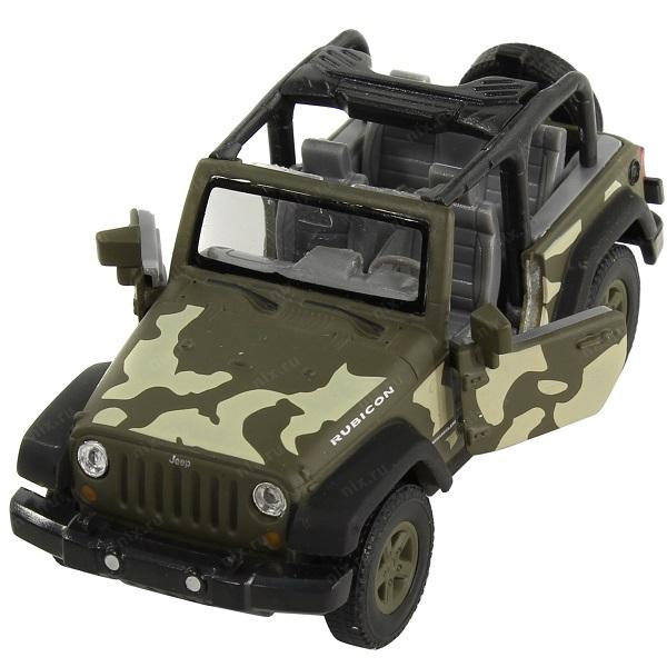 Welly 42371C-CM Велли Модель военной машины 1:34-39 Jeep Wrangler Rubicon