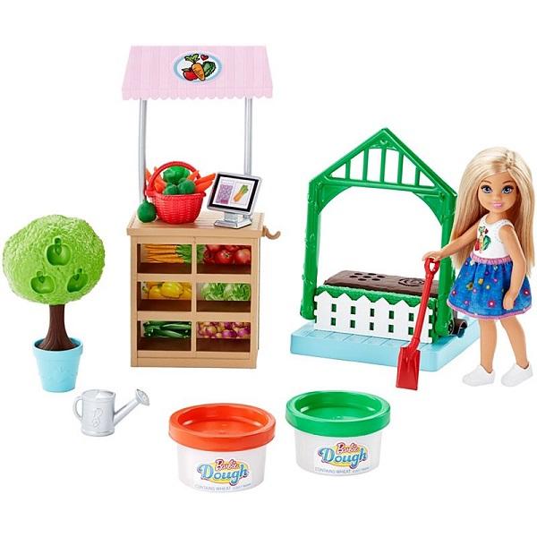 Mattel Barbie FRH75 Барби Овощной сад Челси mattel игровой набор с куклой barbie овощной сад челси