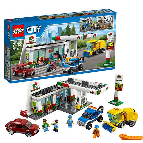 Lego City 60132 Конструктор Лего Город Станция технического обслуживания конструкторы lego lego игрушка город набор для начинающих остров тюрьма модель 60127 city