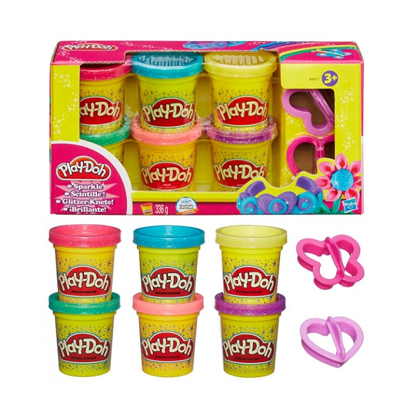 Hasbro Play-Doh A5417 Набор из 6 баночек Блестящая коллекция rectifier mdq 200a rectifier bridge single phase rectifier module