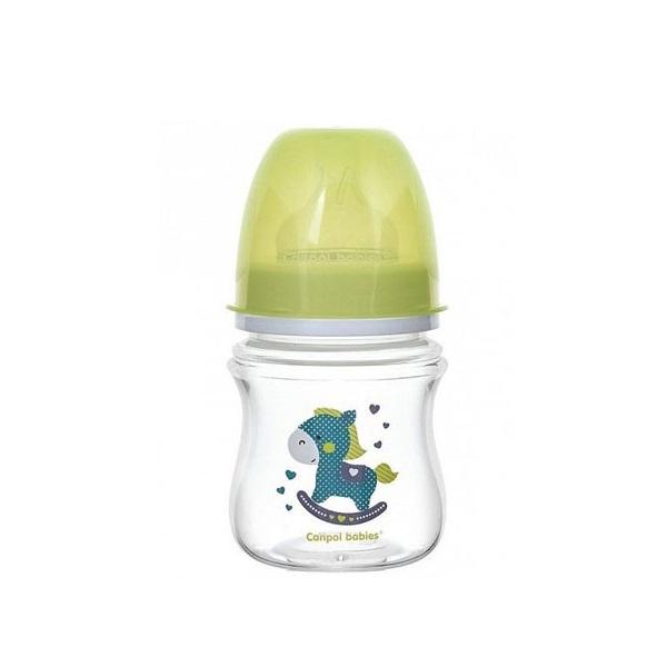 Canpol babies 250989198 Бутылочка PP EasyStart с шир. горлышком антикол, 120 мл, 0+ Toys, (зеленый)