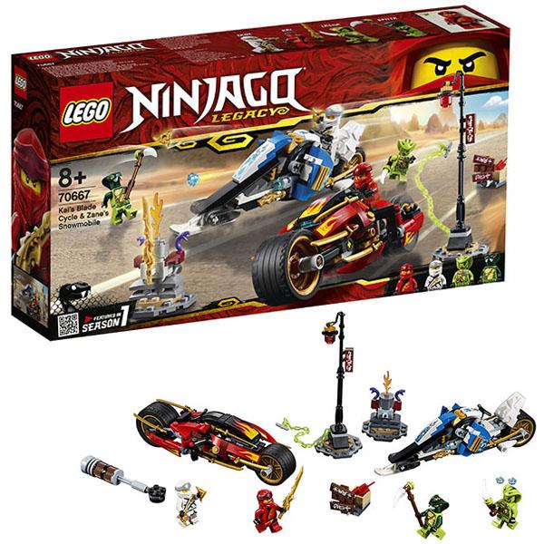 LEGO Ninjago 70667 Конструктор ЛЕГО Ниндзяго Мотоцикл-клинок Кая и снегоход Зейна стоимость