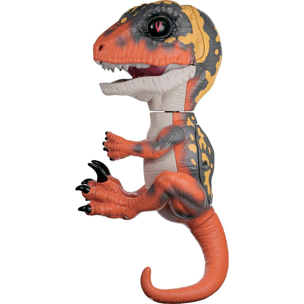 FINGERLINGS UNTAMED DINO 3781M Интерактивный динозавр Блейз (зеленый с оранжевым) 12 см