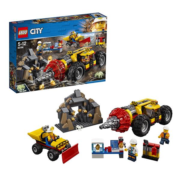 Lego City 60186 Конструктор Лего Город Тяжелый бур для горных работ lego city 60110 лего город пожарная часть
