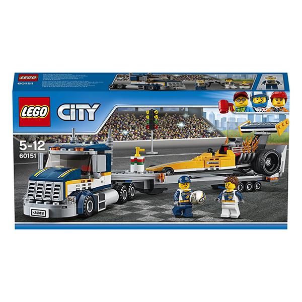 Lego City 60151 Лего Город Грузовик для перевозки драгстера