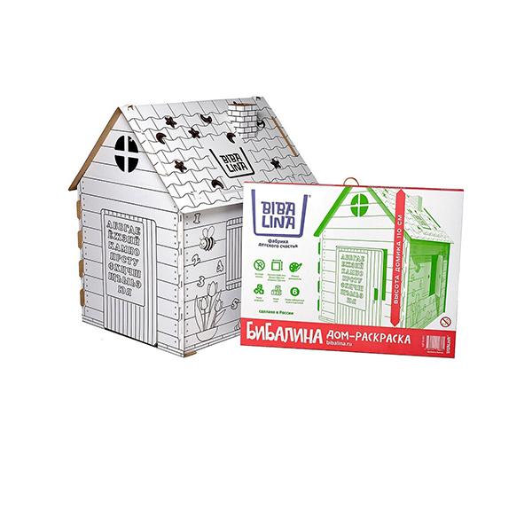 Фото - Бибалина BL-4001 Домик-раскраска картонный (Русский алфавит) mochtoys раскраска картонный домик 10721