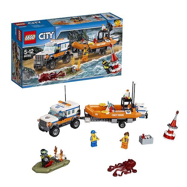 Lego City 60165 Конструктор Лего Город Внедорожник 4х4 команды быстрого реагирования lego city 60110 лего город пожарная часть