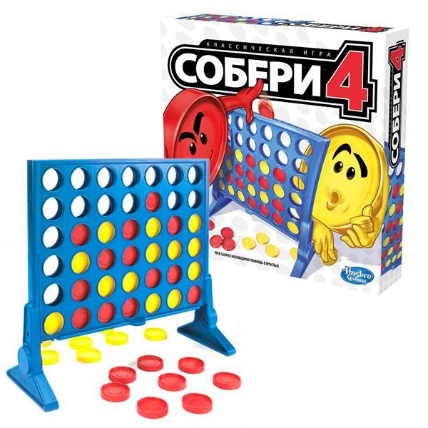 Hasbro Other Games A5640 Игра Собери 4 hasbro other games a4626 настольная игра табу