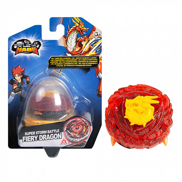 Infinity Nado 37694 Инфинити Надо Волчок Компакт, Fiery Dragon игровой набор alpha toys infinity nado компакт fiery dragon 37694