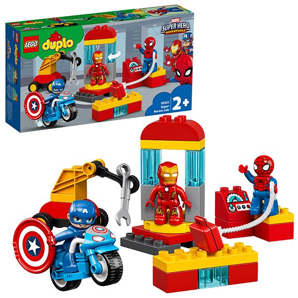 цена на LEGO DUPLO 10921 Конструктор ЛЕГО ДУПЛО Super Heroes Лаборатория супергероев