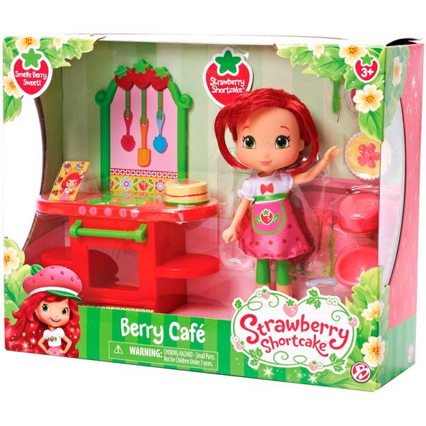 Strawberry Shortcake 12240 Шарлотта Земляничка Кукла 15 см и кафе/салон, 2 (в ассортименте)