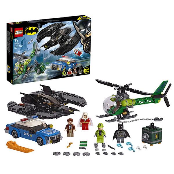 LEGO Super Heroes 76120 Конструктор ЛЕГО Супер Герои Бэткрыло Бэтмена и ограбление Загадочника lego super heroes 76119 конструктор лего супер герои бэтмобиль погоня за джокером