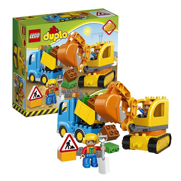 LEGO DUPLO 10812 Конструктор ЛЕГО ДУПЛО Грузовик и гусеничный экскаватор lego duplo 10812 конструктор лего дупло грузовик и гусеничный экскаватор