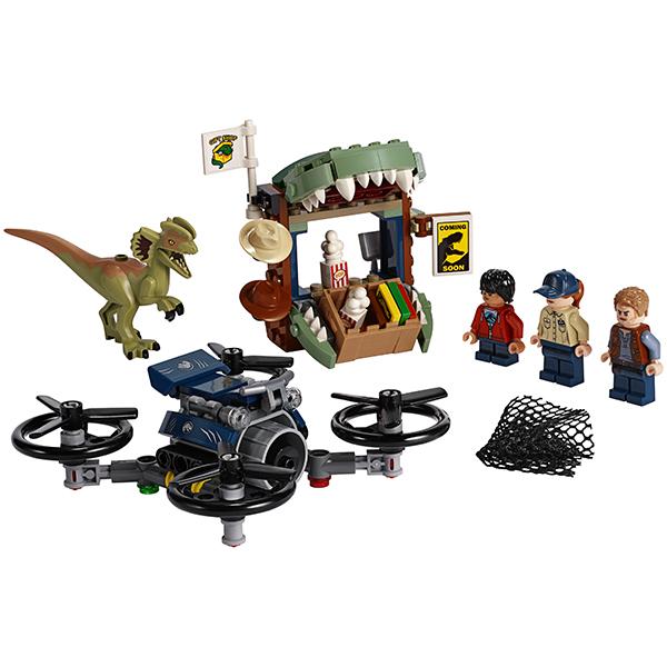 LEGO Jurassic World 75934 Конструктор ЛЕГО Побег дилофозавра