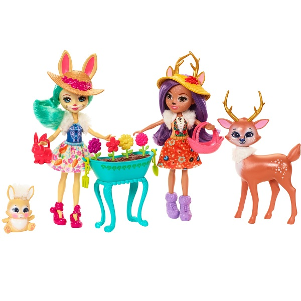 Mattel Enchantimals FDG01 Набор из двух кукол с любимыми зверюшками enchantimals пазл 64 магнитик фелисити лис и флик 03554