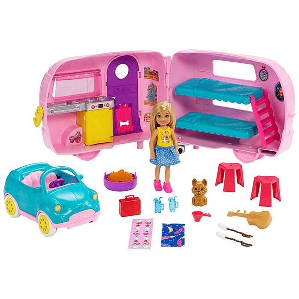 Фото - Mattel Barbie FXG90 Барби Фургон Челси набор школьниика barbie