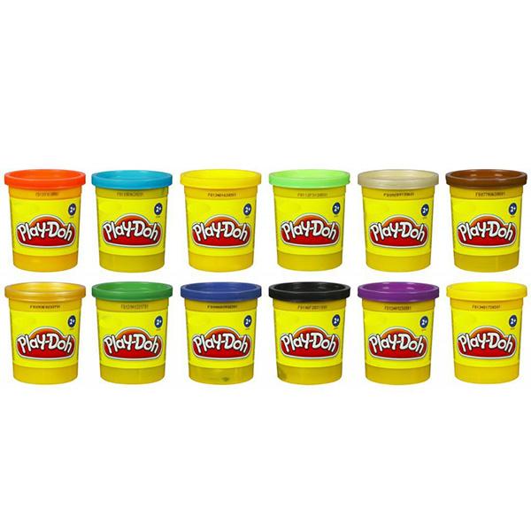 Hasbro Play-Doh B6754 Пластилин 1 Баночка (в ассортименте) play doh b6756 пластилин 1 банка 112 гр в ассорт фиол розов оранж голуб желт