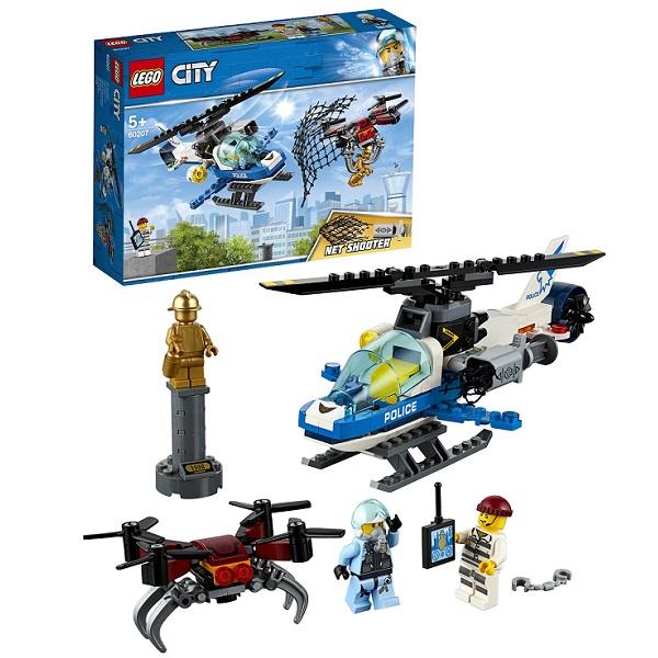 Lego City 60207 Конструктор Лего Город Воздушная полиция: Погоня дронов город мастеров конструктор полицейский вертолет