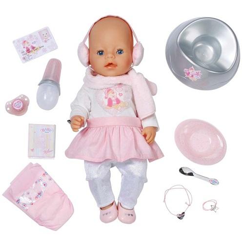 Zapf Creation Baby born 818-626_1 Бэби Борн Кукла Зимние приключения Интерактивная, 43 см, кор.
