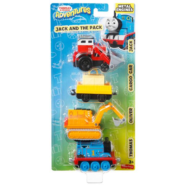 Mattel Thomas & Friends DWM32 Томас и друзья Набор из трех персонажей-паровозиков с вагончиком