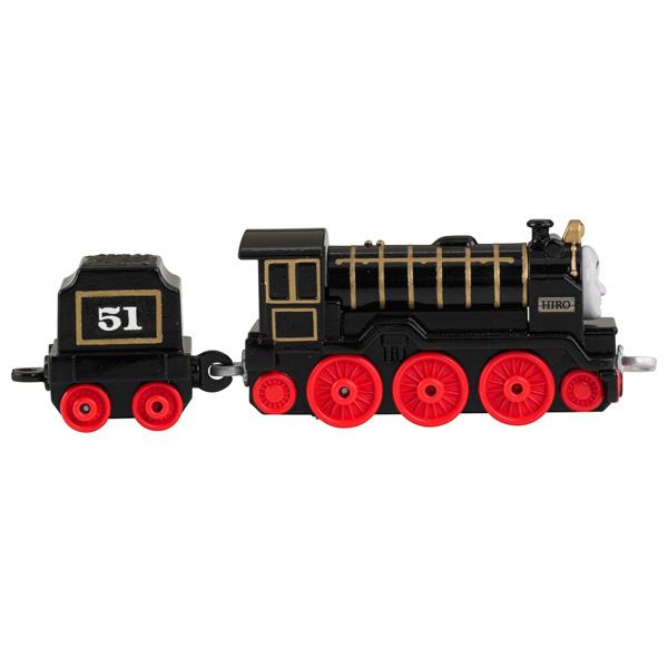 Mattel Thomas & Friends BHR75 Томас и друзья Паровозик Хиро черный с прицепом