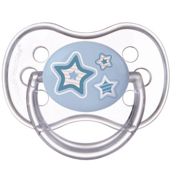 Canpol babies 250989185 Пустышка симметричная силиконовая, 6-18 Newborn baby, цвет: голубой