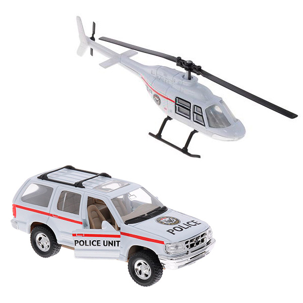 """Welly 98160-4A Велли Игровой набор машин """"Полиция"""" 4 шт"""